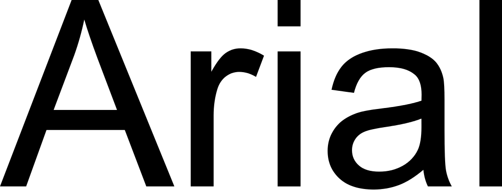Arial font illustration