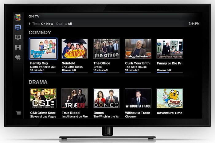google tv interface