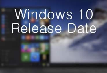 releasing date of window 10